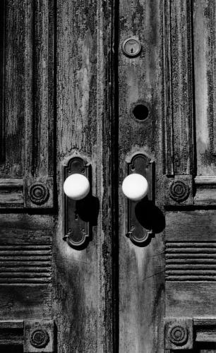 White Doorknobs, 127 Malcolm X blvd.  HARLEM, N.Y.C. by Albert Neal
