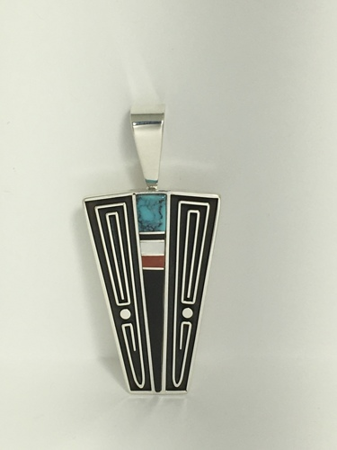 Center Channel Inlay Pendant by Albert Nells