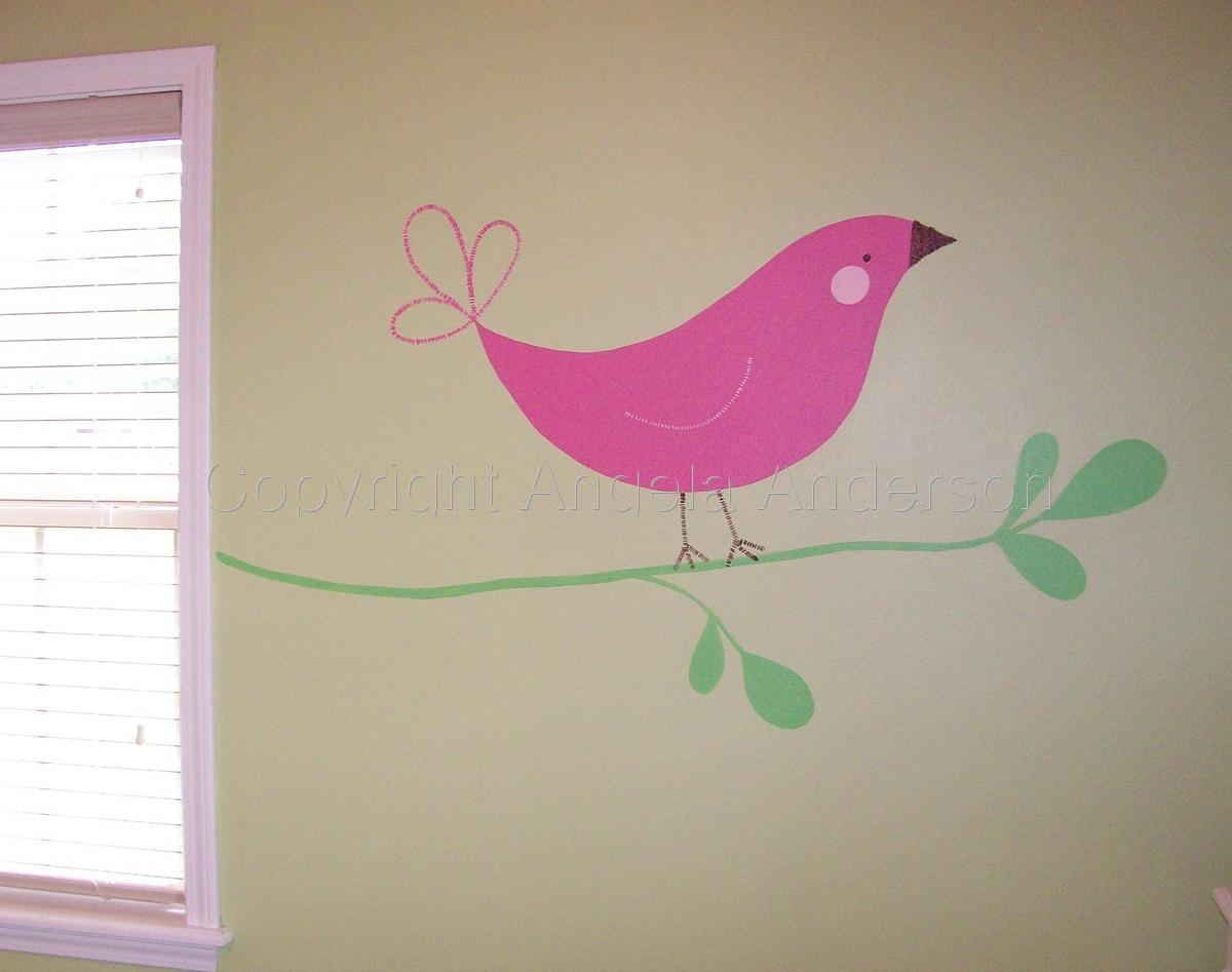 Baby Bird Mural (large view)