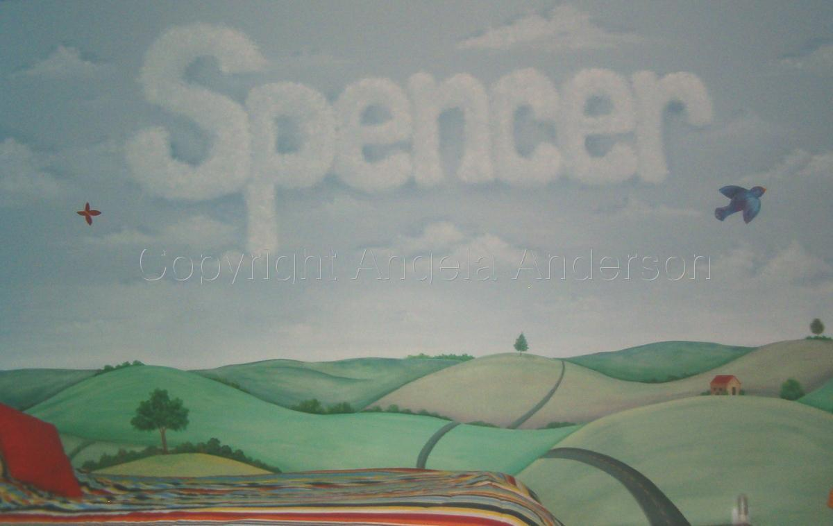Spencer's Room Mural (large view)