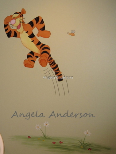Winnie the Pooh Mural 6 (Tigger) (large view)