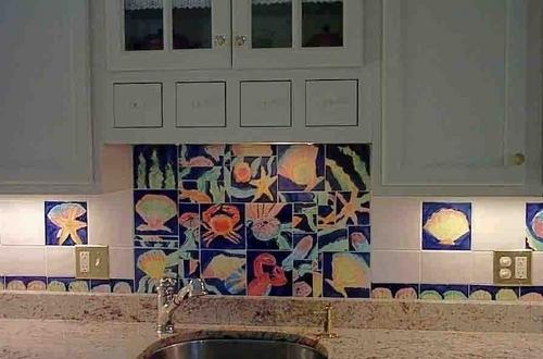 Majolica tile mosaic