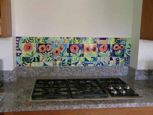 Majolica Poppy Mosaic