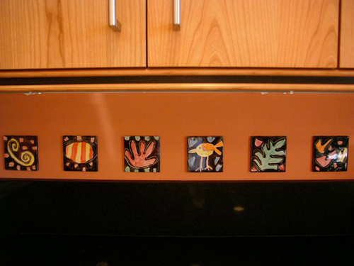 "St Louis Kitchen backsplash with 4"" tiles"