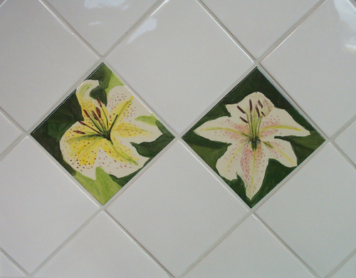 Lily tiles on the diagonal