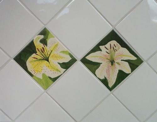 Lily tiles on the diagonal