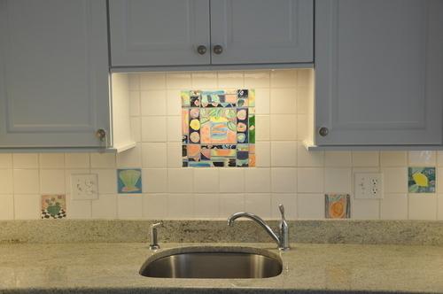Installation Matisse backsplash