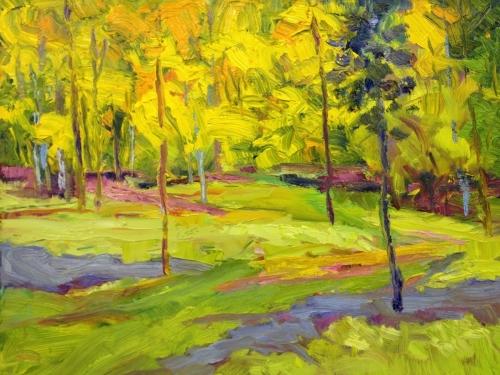 yellow landscape by Anne Von Ehr