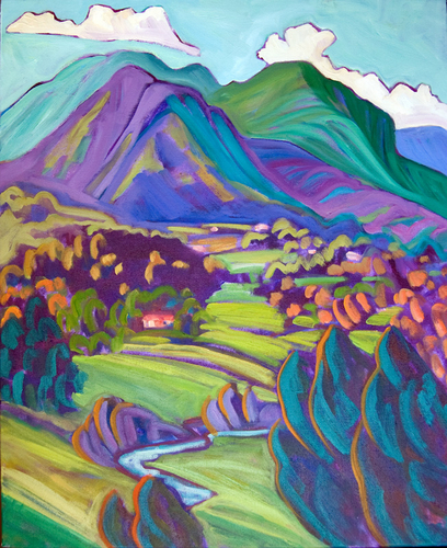 Valdez Valley-Blue & Green