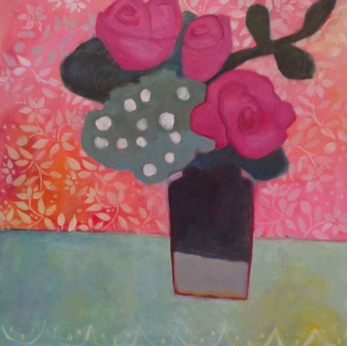 Pink Roses, Green Table