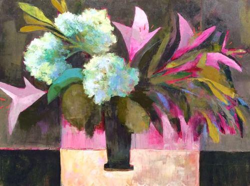 Hydrangeas+Pink Lilies