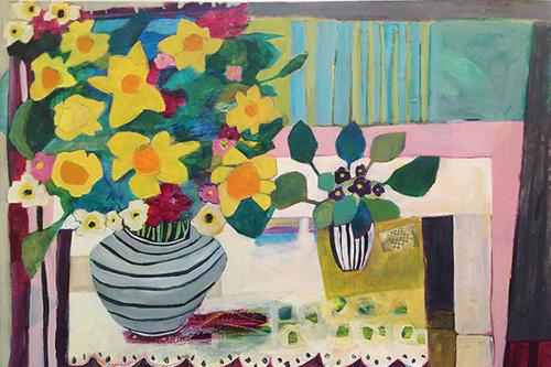 Daffodils+Violets