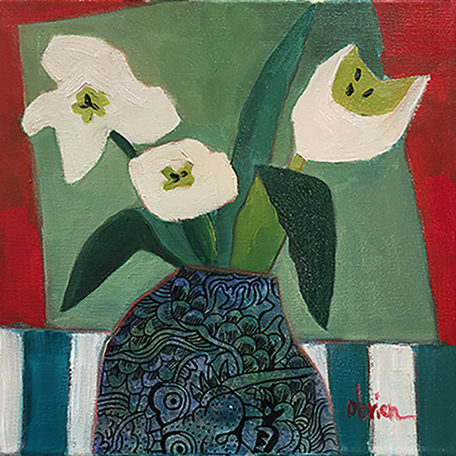Tulips-Red,White,Blue