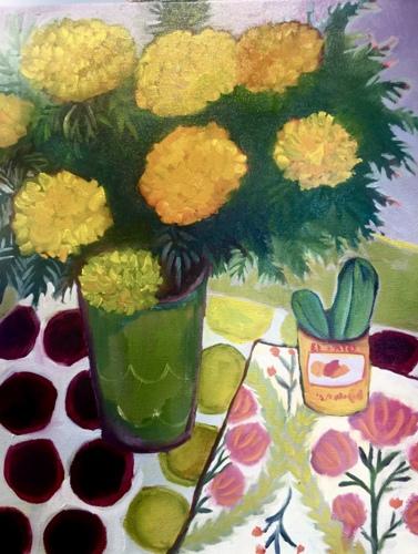 Marigolds & Cactus