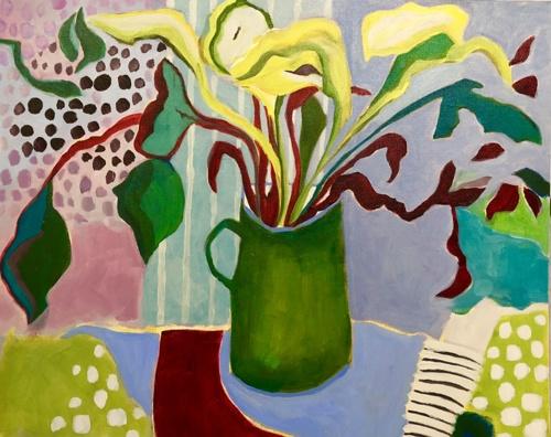 Green Lilies by Annie O'Brien Gonzales