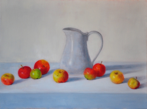 Apples with White Pitcher