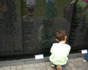 Child at Vietnam Memorial (thumbnail)