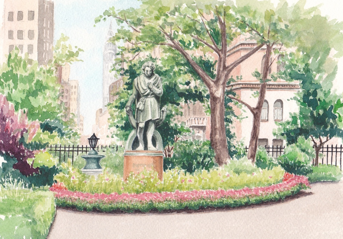 Gramercy Park, Edwin Booth Statue (large view)