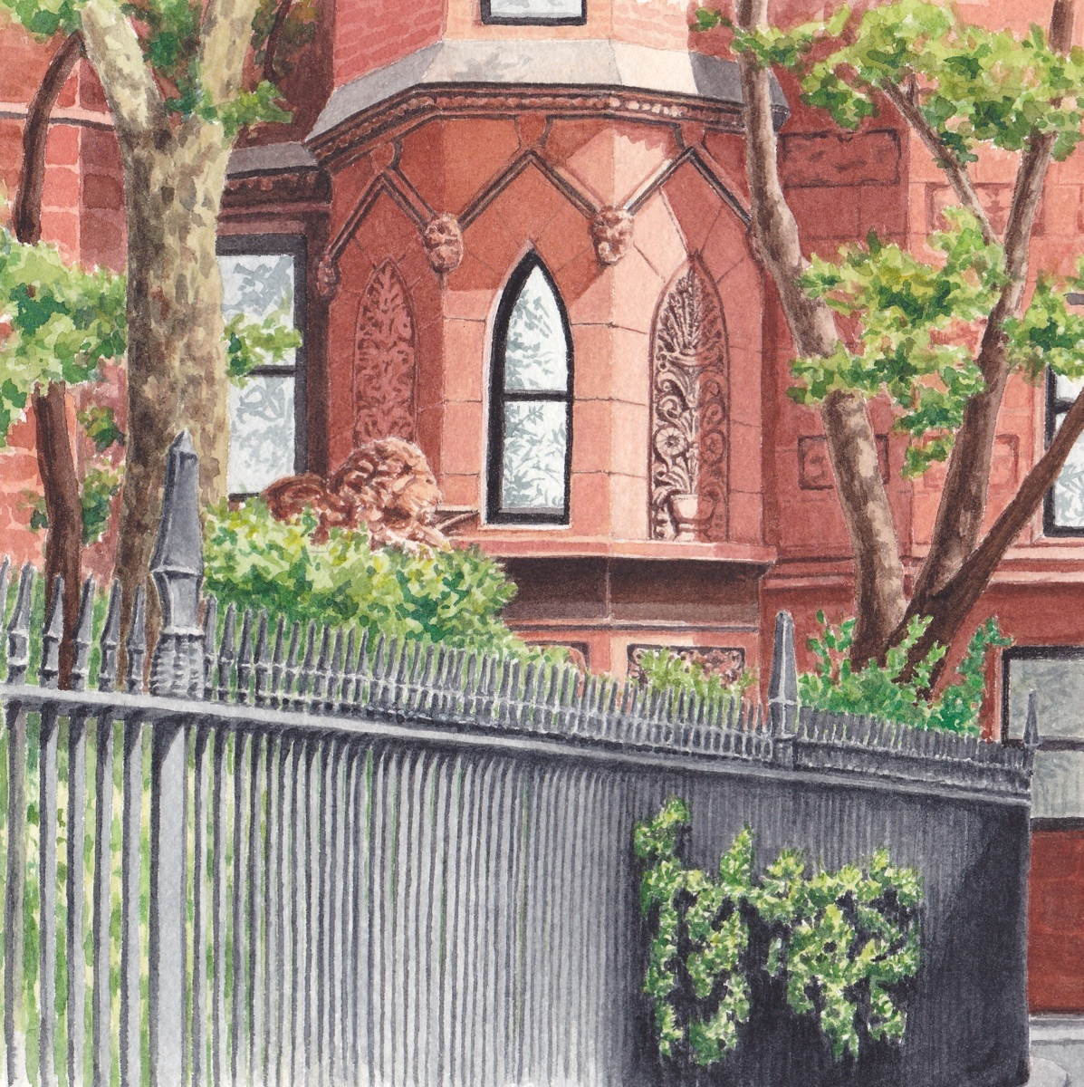 Gramercy Park, South East Corner (large view)