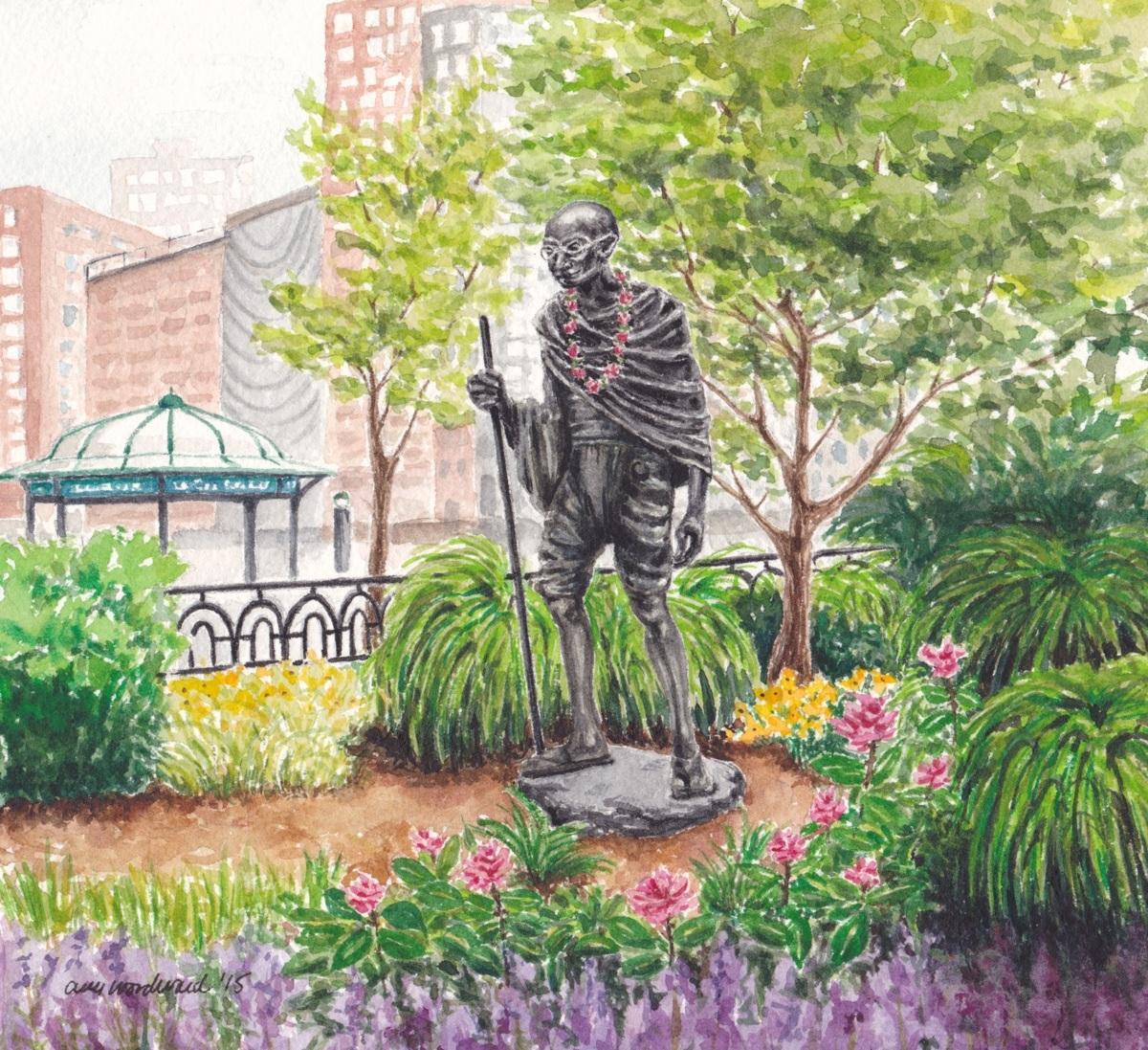Gandhi Statue, Union Square (large view)