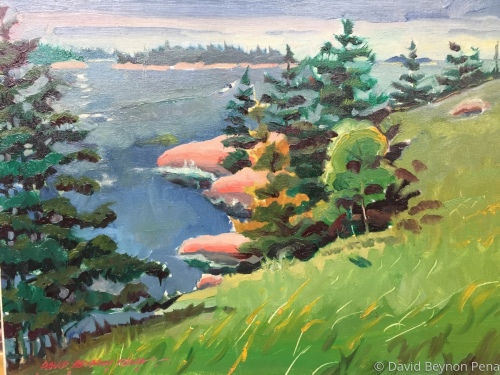 Hurricane Sound, Penobscot Bay, Maine by David Beynon Pena art represented by Alison BW Pena