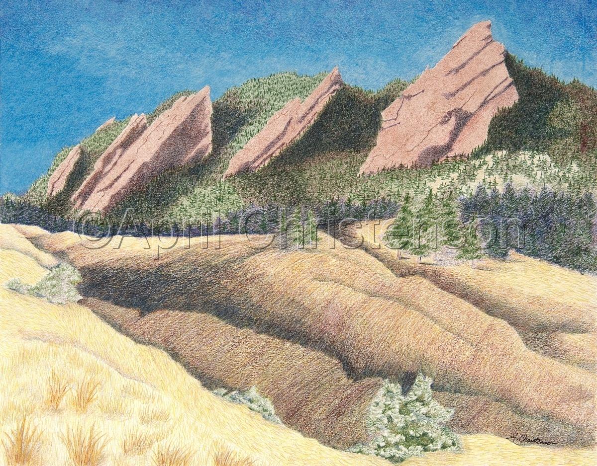 Boulder Flatirons Fall Shadows (large view)