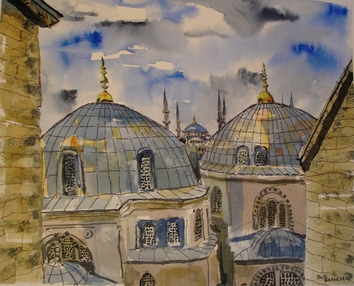 Haggia Sophia from the Blue Mosque, Istanbul