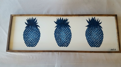 Three Blue Pineapples