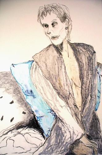 "Self Portrait of artist ""Seeking Validity' 2015  by Gail Devine"