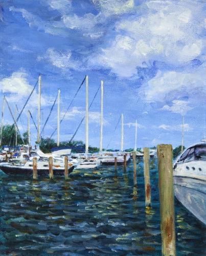 Harbor Scene I by Nicholas Skaltsounis