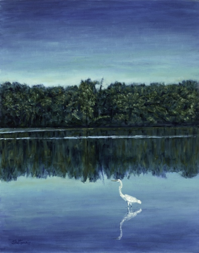 Egret on the James