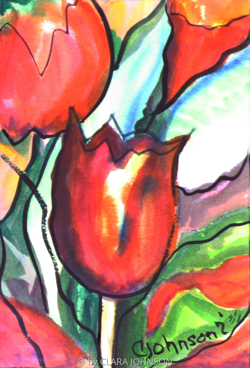Stainglass Tulips (large view)