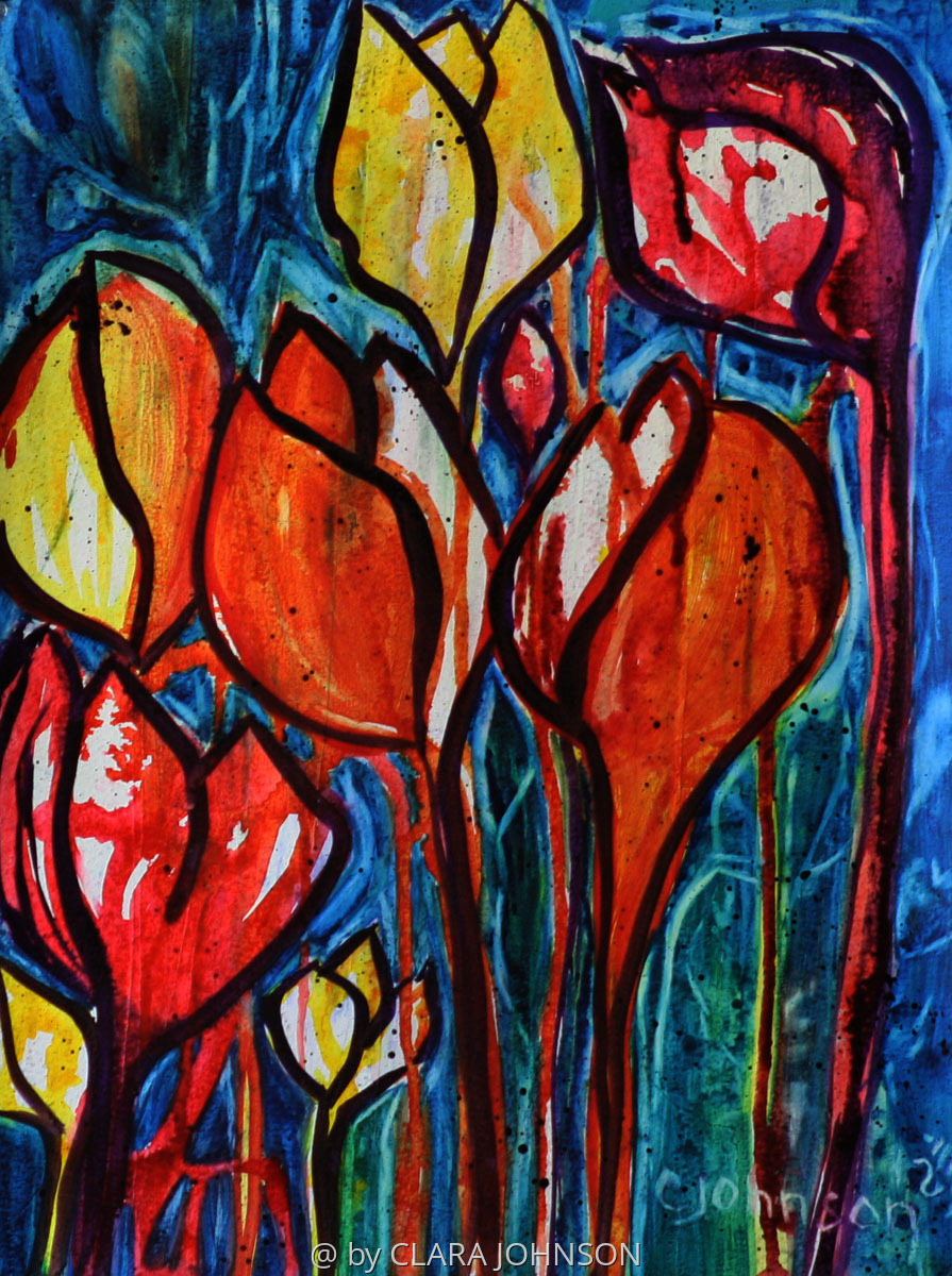 'Rainy Day Tulips' (large view)