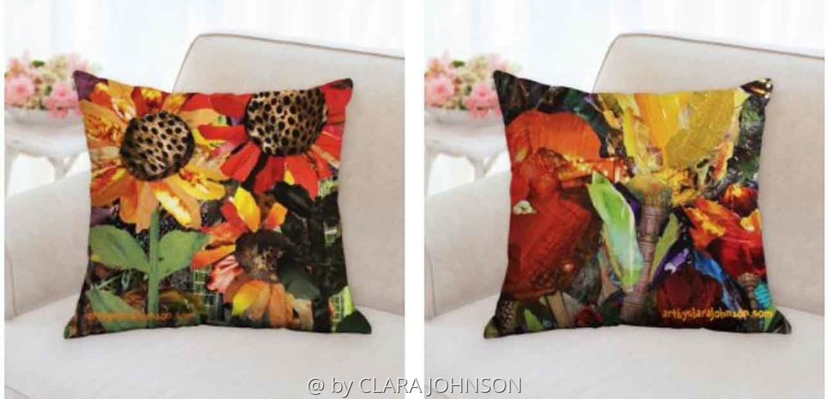 Wild Sunflowers Pillow (large view)