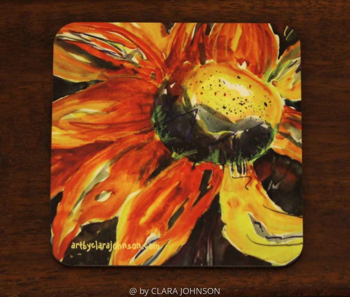 Sunflower Power Coaster (large view)