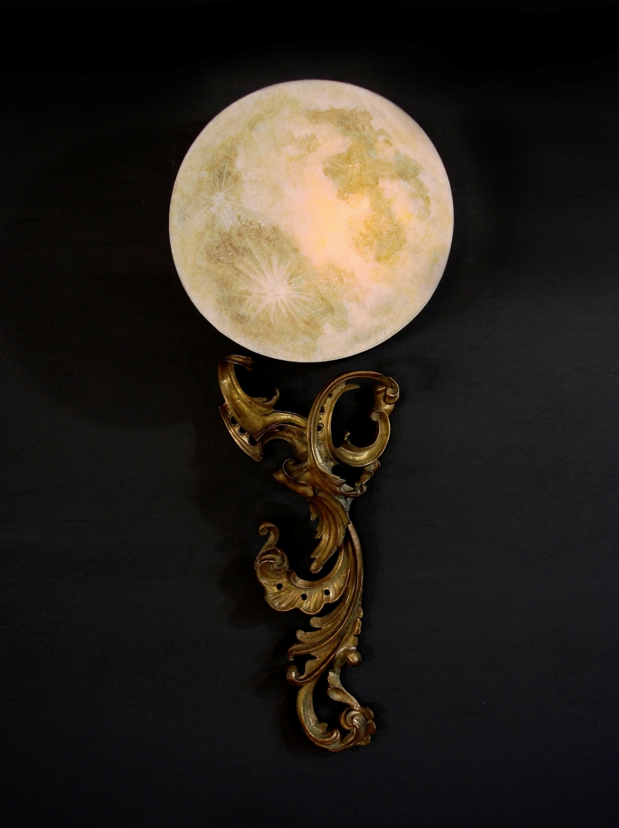 PAIR- La Luna Wall Lamps (large view)