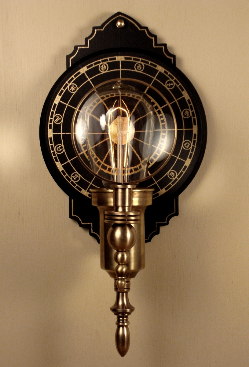 """Parrish Carriage I "" Steampunk Wall Lantern (large view)"
