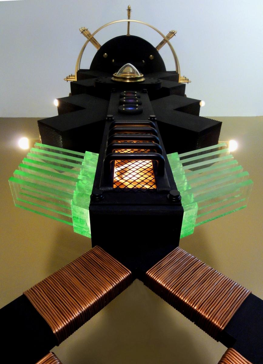 """""""Ravi Palace"""" Illuminated Steampunk Pendant Device (large view)"""
