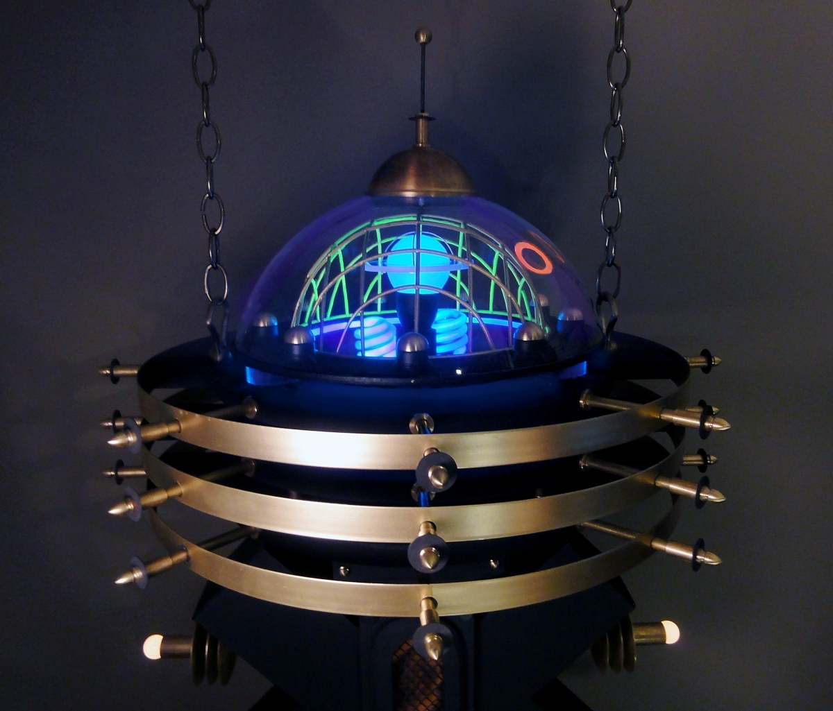 """Ravi Palace"" Illuminated Steampunk Pendant Device (large view)"