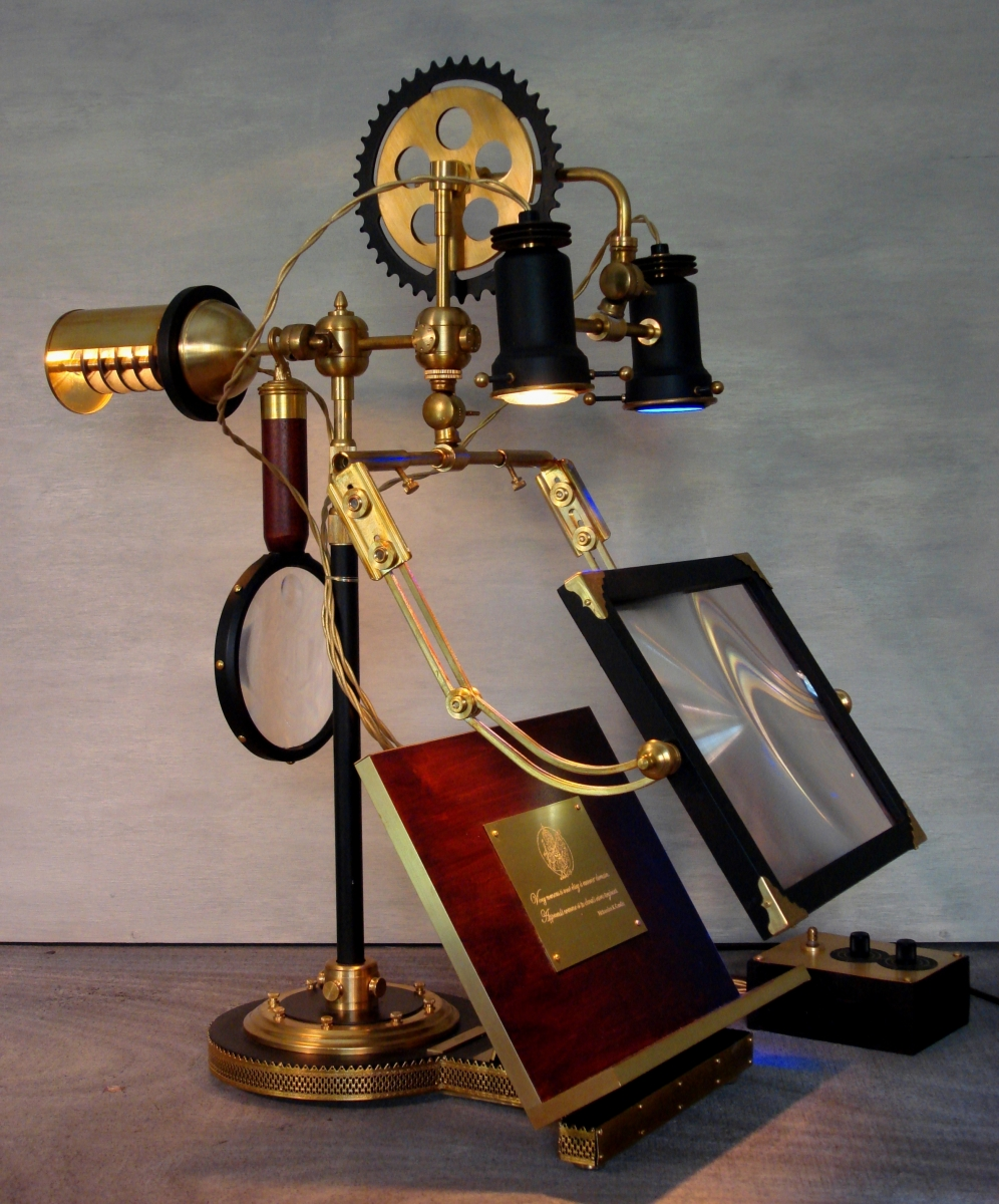 "Steampunk. ""The Ferryman""  Research + Reading lamp (large view)"