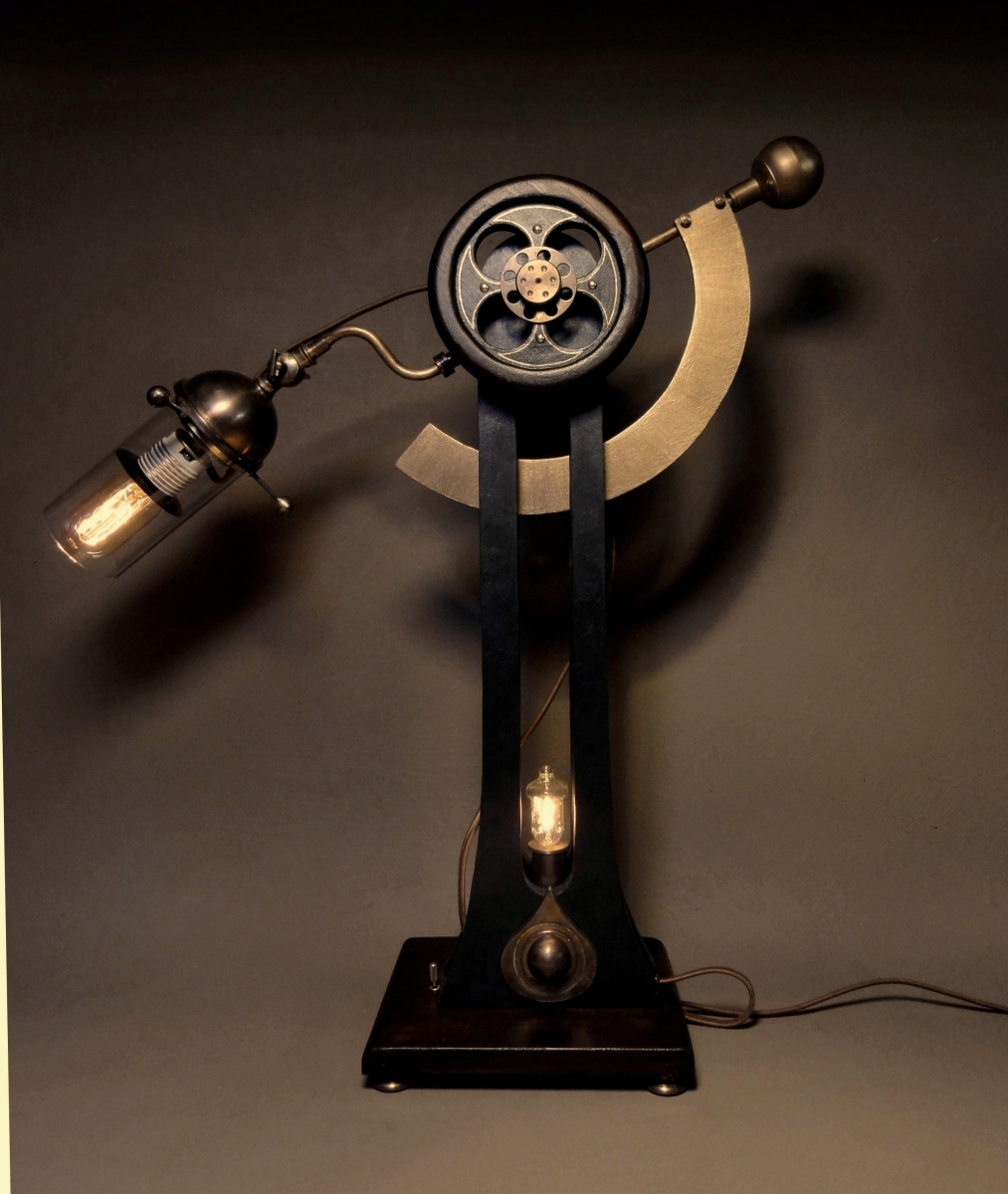 """Sultan Jack""  Steampunk Table Lamp (large view)"