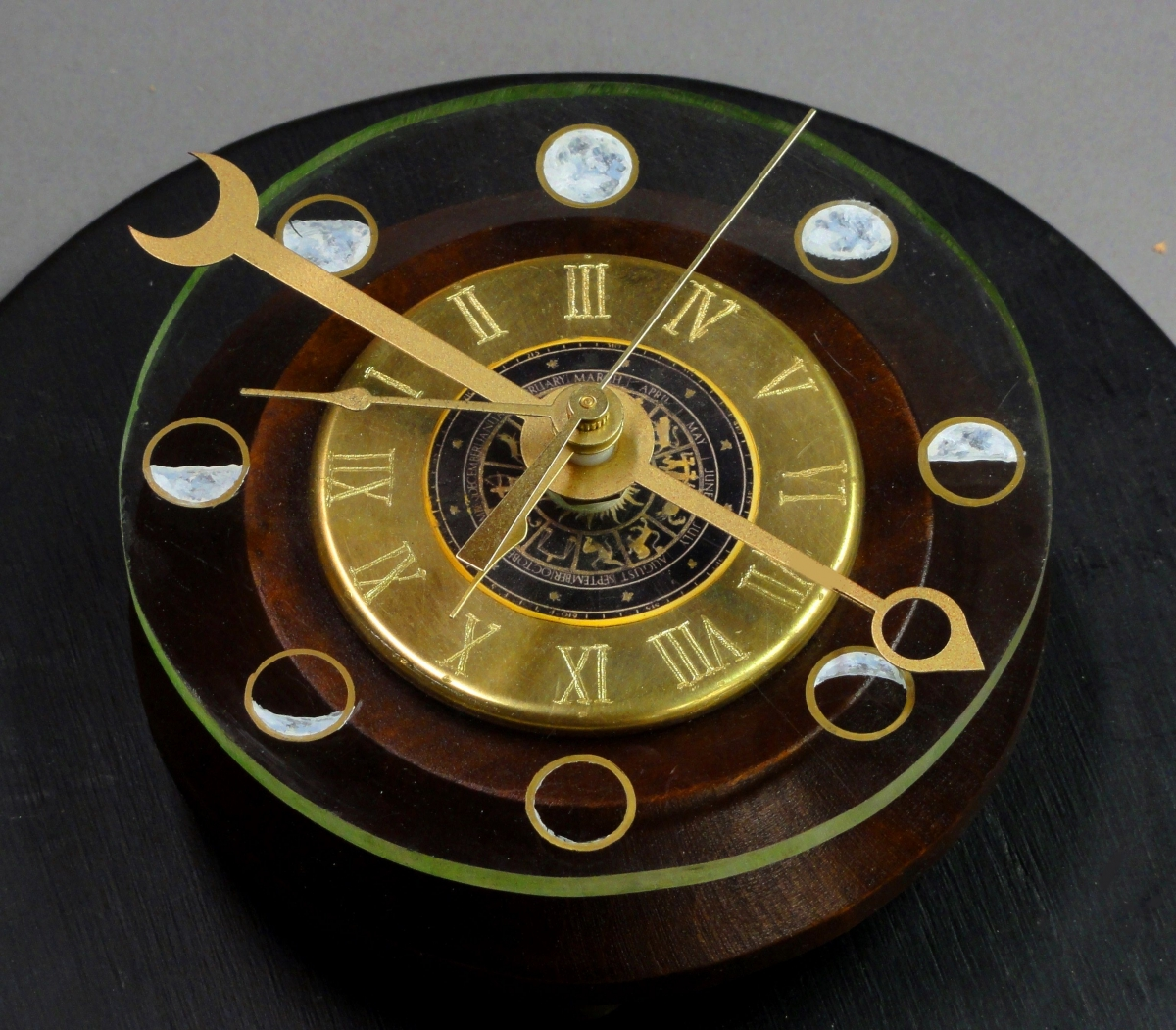 Moon Phase Clock from Petite Cosmo Steampunk Lamp (large view)