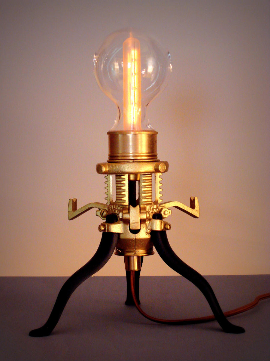 """Mr. Peanutski""  The Original Steampunk Lamp (large view)"