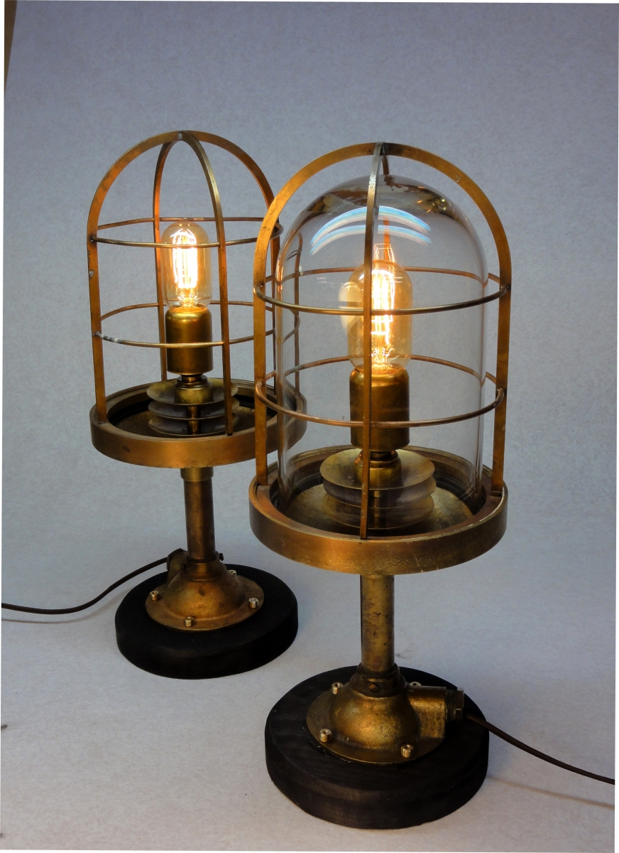 Trumpy Table Lamps by Art Donovan (large view)
