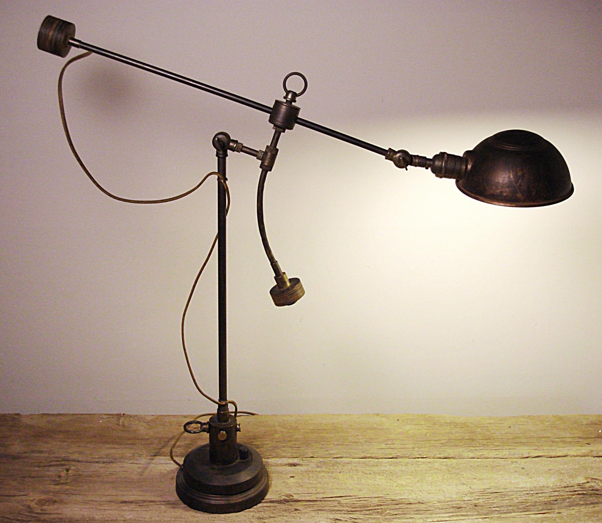 Industrial Table Lamp, Classic Steampunk Lighting (large view)
