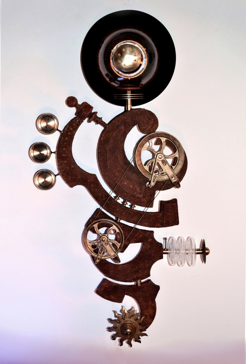 """The Watchman"" Illuminated Steampunk Sculptural Device (large view)"