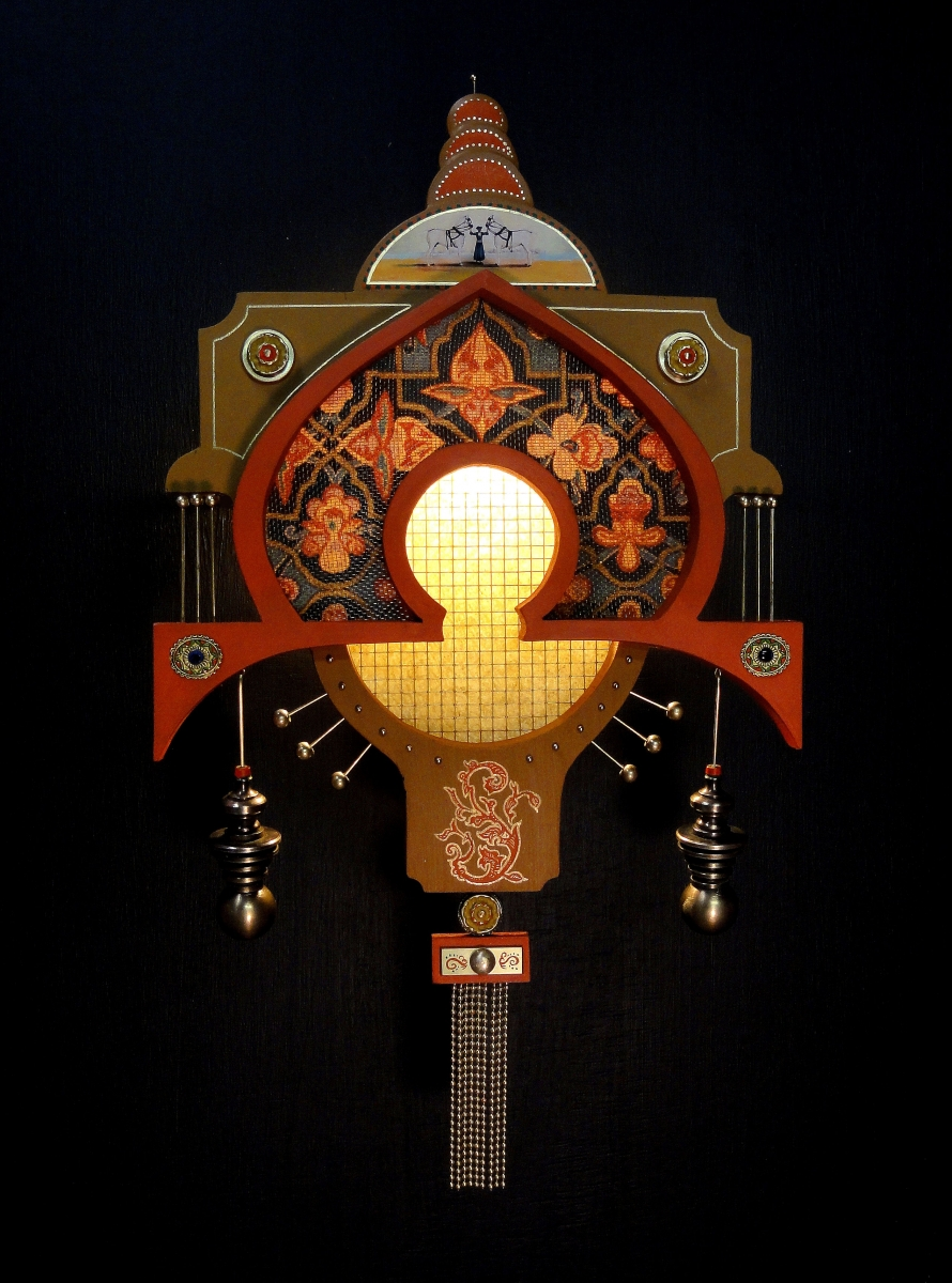The Queen of Cathay. Wall Lamp by Art Donovan (large view)