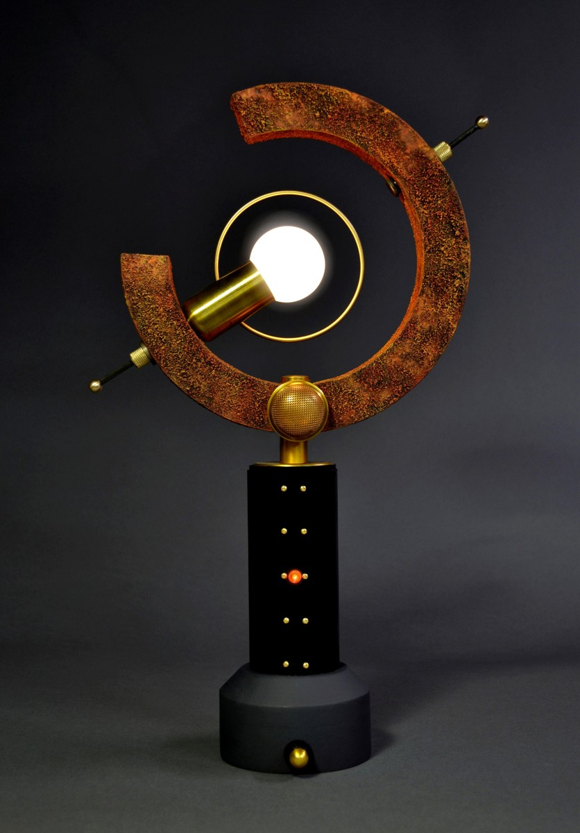 'petite arc'  Steampunk Accent Lamp by Art Donovan (large view)