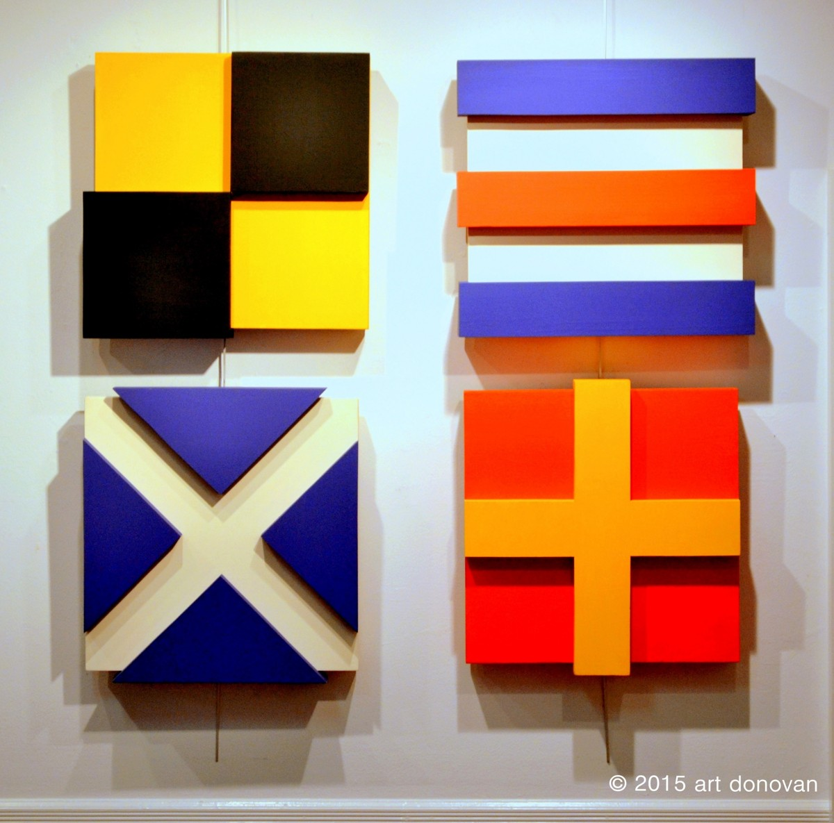 Nautical Flags- Three Dimensional Paintings. (large view)