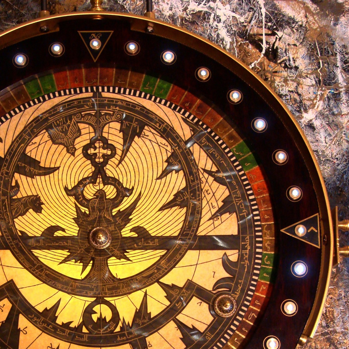 Shiva Mandala Iluminated Astrolabe (large view)